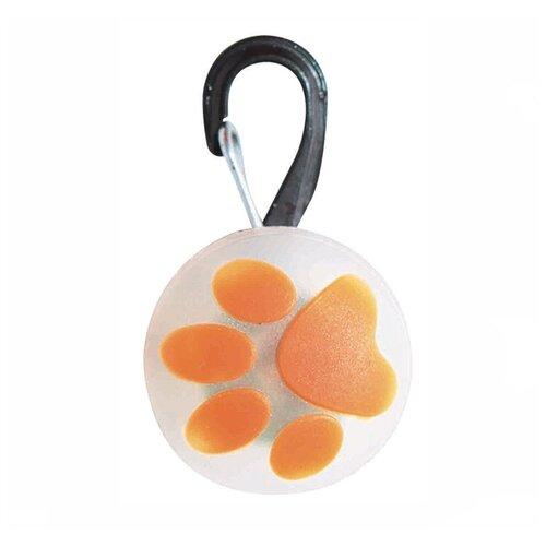 Маячок украшение на ошейник Ziver 415 Лапа оранжевый