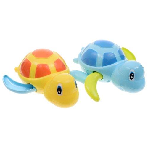 Купить Набор для ванной Happy Baby Swimming Turtles (331843) желтый/голубой, Игрушки для ванной