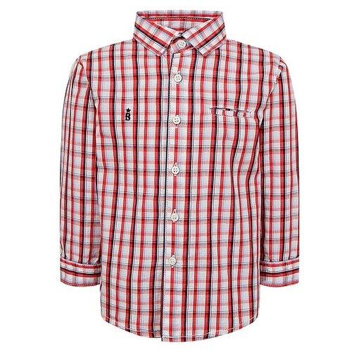 Рубашка Mayoral размер 74, красный/белый/синий