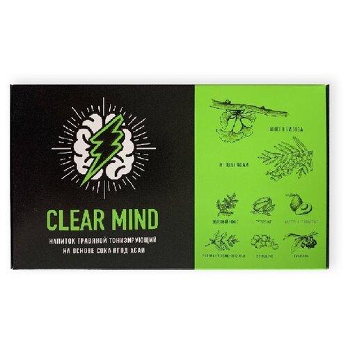 Энергетический напиток Clear Mind на основе сока ягод асаи и черной смородины, 0.75 л, 5 шт. drive me энергетический напиток 0 5 л