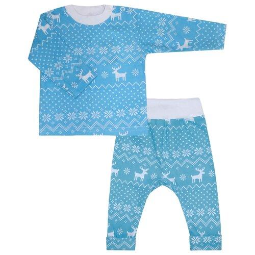 Пижама KotMarKot размер 92, голубой ручка дверная алюминиевая new york c раздельной накладкой алюминий натуральный