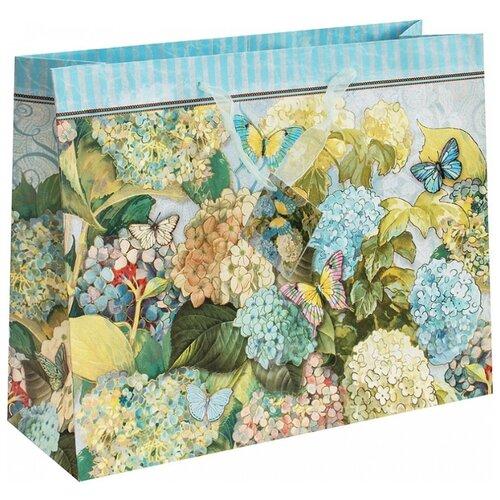 Пакет подарочный Perfect Craft Очаровательная гортензия 35 х 28 х 12 см голубой