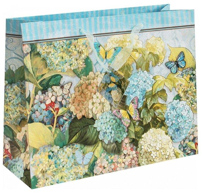 Пакет подарочный Perfect Craft Очаровательная гортензия 35 х 28 х 12 см