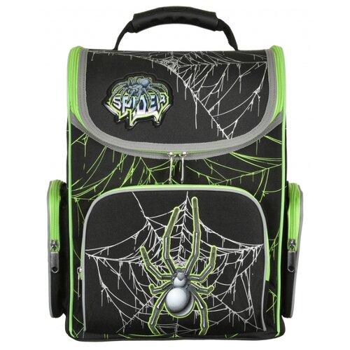 Купить Silwerhof Ранец Spider с сумкой для обуви (1088899+840369), черный, Рюкзаки, ранцы