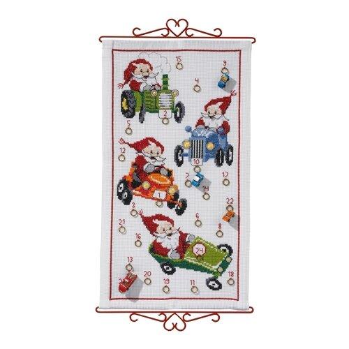 Купить Набор для вышивания, календарь Рождественский календарь 35 х 63 см 34-2622, Permin, Наборы для вышивания