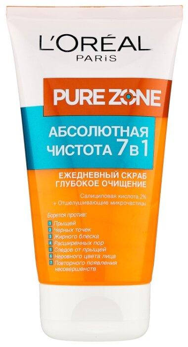 L'Oreal Paris Pure Zone Глубокое очищение 7 в 1 Скраб для лица против прыщей и черных точек