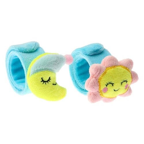 Купить Набор Крошка Я Счастливый малыш 3612301 голубой/желтый, Погремушки и прорезыватели