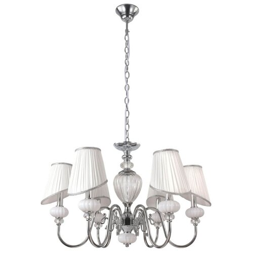 Люстра Crystal Lux Alma White SP-PL6, E14, 360 Вт люстра crystal lux sevilia pl6 gold e14 240 вт