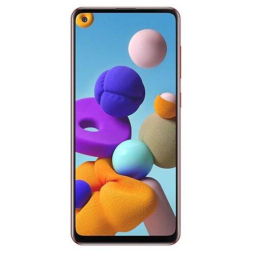 Смартфон Samsung Galaxy A21s 4/64GB красный (SM-A217FZROSER) смартфон samsung galaxy a30 2019 sm a305f 64gb красный
