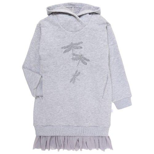 Платье Мамуляндия размер 98, серый меланж фото