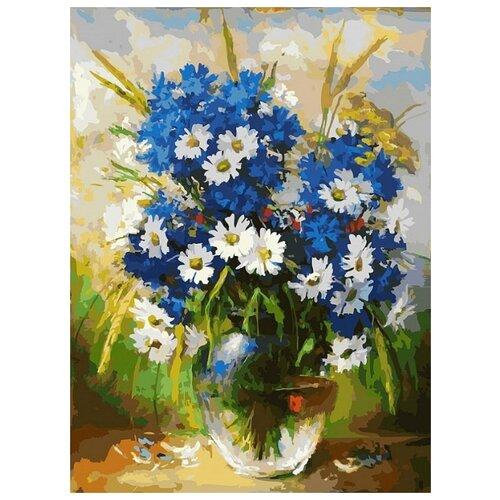 Купить Ромашки и васильки живопись на картоне 30*40см 30х40 Белоснежка 3143-CS, Картины по номерам и контурам