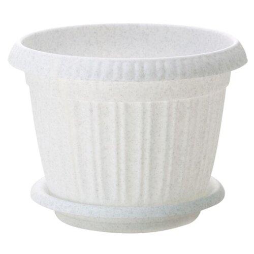 Горшок InGreen Таити ING41020, 20х15.5 см мраморный