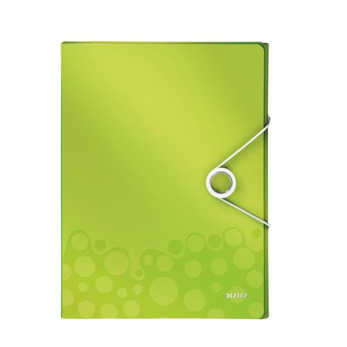 Leitz Папка-бокс WOW А4 на резинке, 30 мм зеленый albion папка на резинке basic цвет зеленый