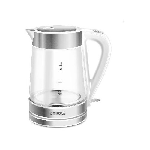 Фото - Чайник ARESA AR-3440, белый/серебристый весы напольные aresa ar 4407
