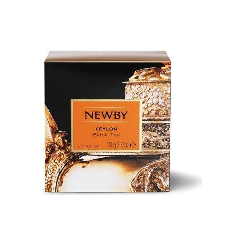 Чай черный Newby Ceylon листовой, 100 г майский чайная матрешка синяя черный листовой чай 30 г