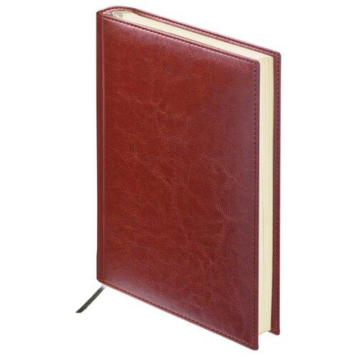 Ежедневник BRAUBERG Imperial недатированный, искусственная кожа, А6, 160 листов, коричневый ежедневник brauberg imperial а5 160 листов недатированный коричневый