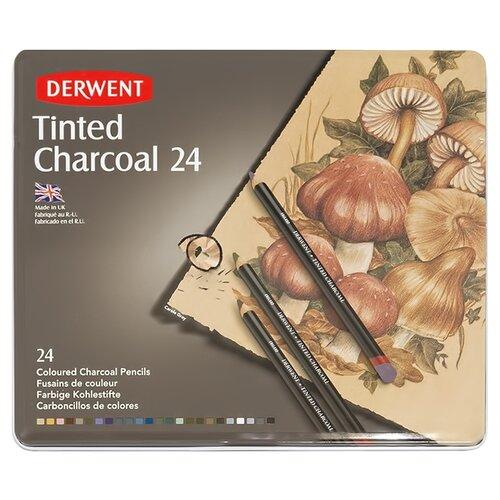 Купить Derwent Угольные карандаши 24 цвета, Пастель и мелки