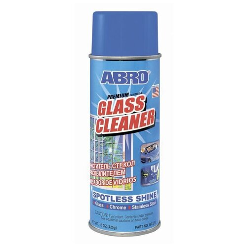 Фото - Пенный спрей ABRO Очиститель стекол, 425 г очиститель двигателя abro dg 300 r 0 51 кг баллончик