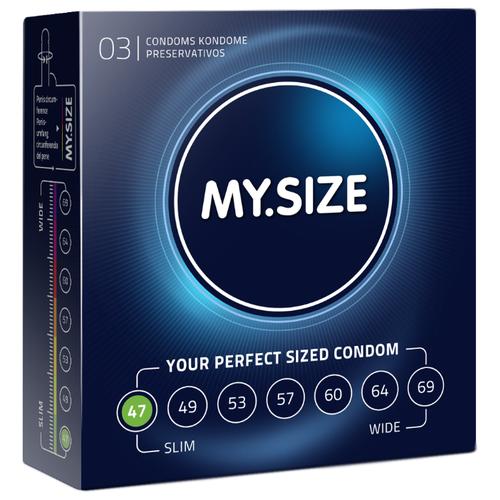 Презервативы MY.SIZE 47*160 (3 шт.) презервативы my size 49 160 36 шт