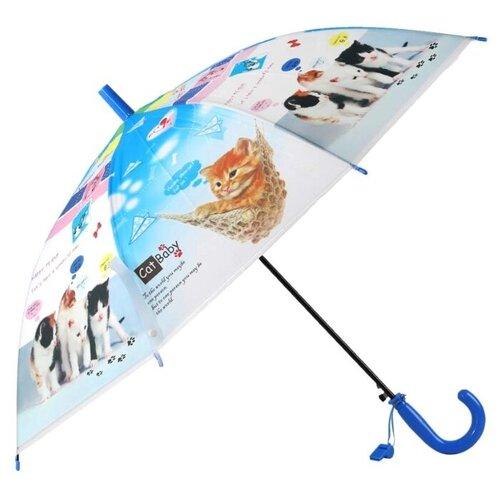 Фото - Зонт-трость полуавтомат Джамбо Тойз JB0206279 черный/голубой/белый зонт трость полуавтомат три слона 1100 черный