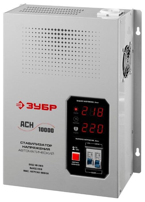 ЗУБР 8 кВт, 220 В, профессиональный стабилизатор напряжения АСН 10000 59387-10