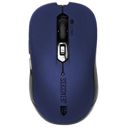 Беспроводная мышь Jet.A Comfort OM-B90G USB+Bluetooth синий мышь беспроводная jet a comfort om u36g чёрный usb