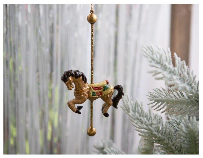 SHISHI, Ёлочная игрушка карусельная лошадка, полистоун, 16 см 46357