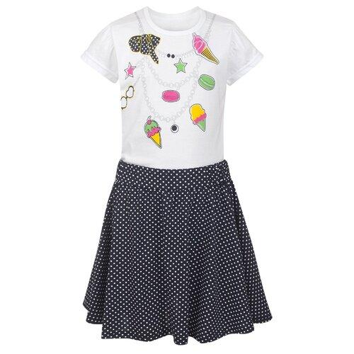 Купить Комплект одежды M&D размер 116, белый/темно-синий, Комплекты и форма