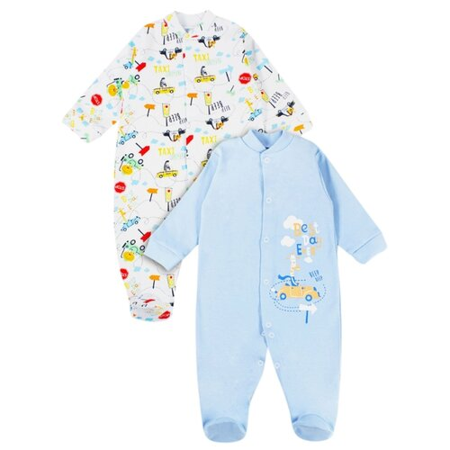 штанишки для мальчика веселый малыш one цвет голубой 33150 one c 1 размер 68 Комбинезон Веселый Малыш размер 68, голубой