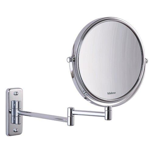 настенное зеркало с увеличительным эффектом и сенсорным включателем подсветки valera optima light smart 207 09 Зеркало косметическое настенное Valera 207.01 хром