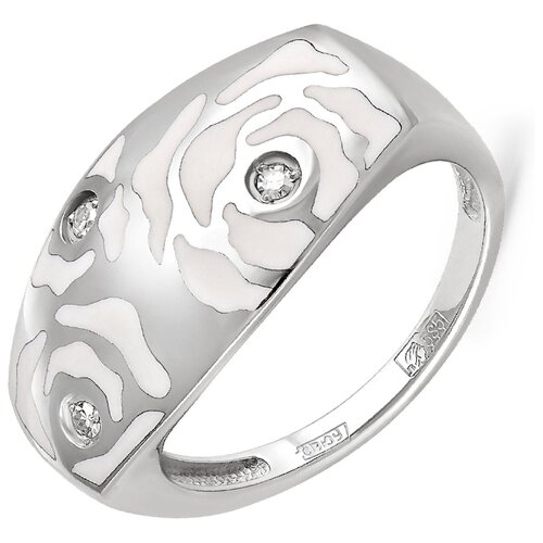 Фото - KABAROVSKY Кольцо с 3 бриллиантами из белого золота 11-1812-1010, размер 18 kabarovsky кольцо с 11 бриллиантами из белого золота 11 1803 1010 размер 17