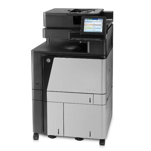 Фото - МФУ HP Color LaserJet Enterprise flow MFP M880z+ черный/белый мфу hp color laserjet enterprise 800 mfp m880z a2w75a цветной a3 46ppm факс дуплекс hdd 320гб ethernet usb