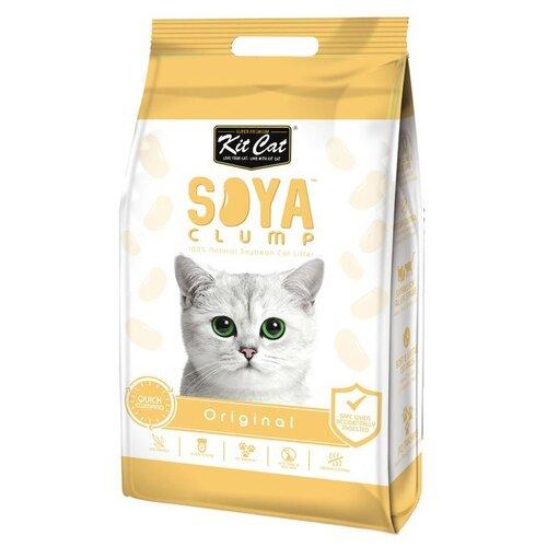 Комкующийся наполнитель Kit Cat Soya Clump Original 14 л- преимущества, отзывы, как заказать товар за 1561 руб. Бренд Kit Cat