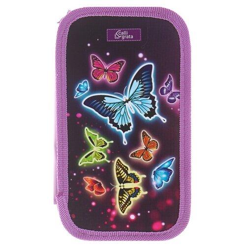 Calligrata Пенал Бабочки (4235254) фиолетовый
