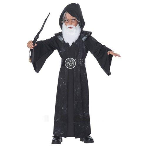 Купить Костюм California Costumes Колдун 00186, черный, размер M (3-4 года), Карнавальные костюмы