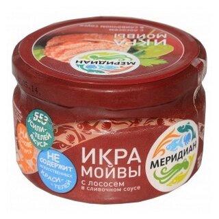 Меридиан Икра мойвы в соусе с копченым лососем ст/б