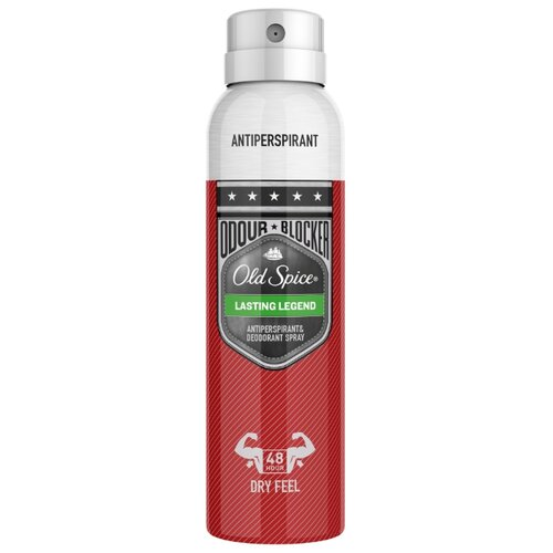 Дезодорант-антиперспирант спрей Old Spice Odour Blocker Lasting Legend, 150 мл дезодорант old spice odour blocker strong slugger 150мл аэрозоль антиперсп муж