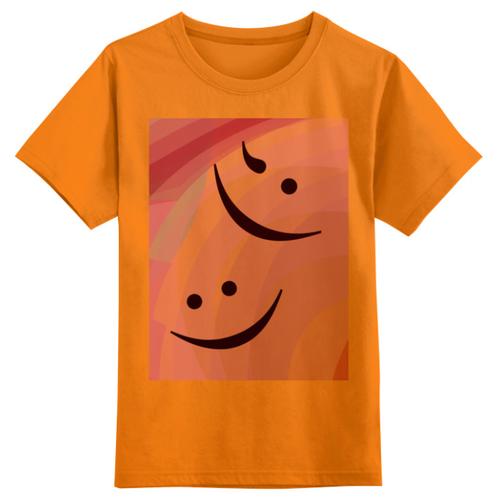 Купить Футболка Printio размер 5XS, оранжевый, Футболки и майки