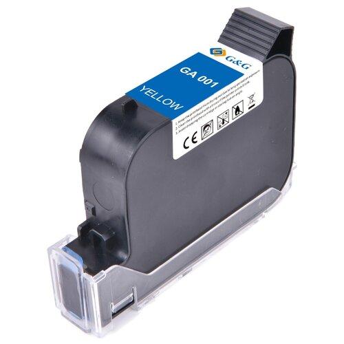 Фото - GA-001Y струйный пигментный желтый картридж для принтеров GG-HH1001B, GG-HH1001A, 42 ml клей аквенс ga 6642 gel aquence ga 6642 gel 20 кг