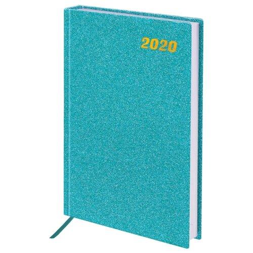 Ежедневник BRAUBERG Holiday датированный на 2020 год, А5, 168 листов, бирюзовый