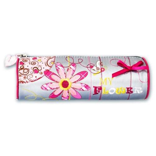 Феникс+ Пенал-тубус Модный цветок (30339) серый/розовый