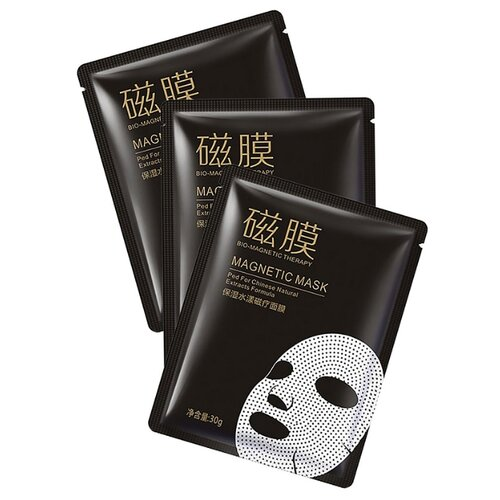 BioAqua Магнитная маска для лица Bio-magnetic Therapy, 30 г, 3 шт. маска для лица bioaqua bioaqua bi025lwdjge1