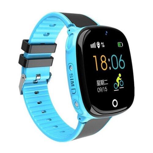 Детские умные часы c GPS Smart Baby Watch HW11 голубой детские умные часы c gps smart baby watch kt03 голубой синий