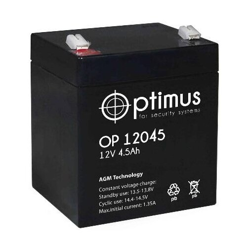 Аккумуляторная батарея Optimus OP 12045 4.5 А·ч