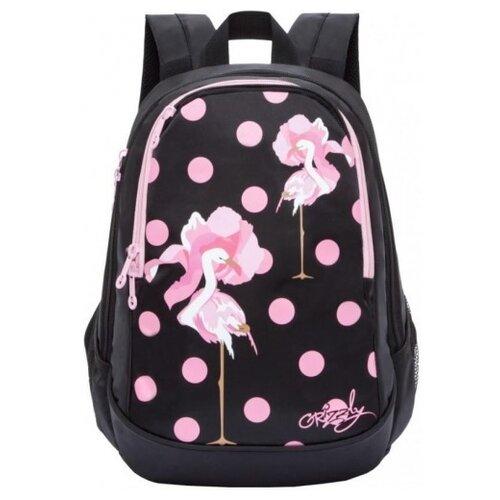 Grizzly Рюкзак RD-843-1, черный/розовый рюкзак grizzly grizzly mp002xm23sic