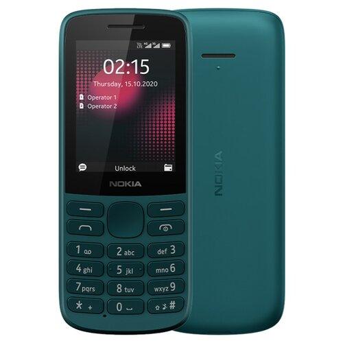Телефон Nokia 215 4G Dual Sim, бирюзовый мобильный телефон nokia 220 4g dual sim blue бирюзовый