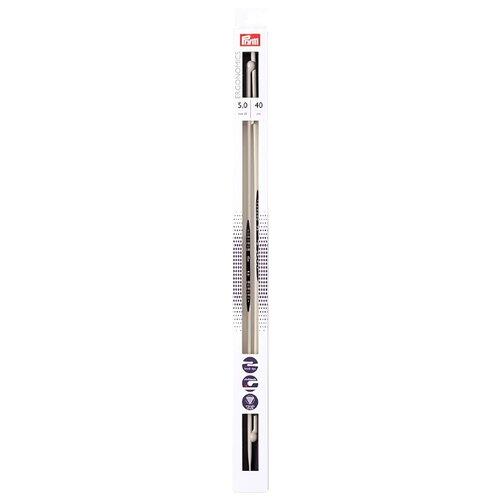 Спицы Prym полимерные Ergonomics, диаметр 5 мм, длина 40 см, алебастровый белый
