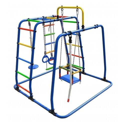 Купить Спортивно-игровой комплекс Формула здоровья Игрунок-Т Плюс синий/радуга, Игровые и спортивные комплексы и горки