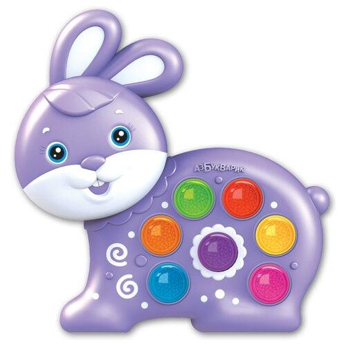 Развивающая игрушка Азбукварик Веселушки Зайчик фиолетовый
