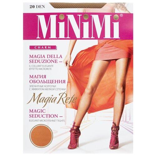 Колготки MiNiMi Magia Rete 20 den, размер 4-L, daino (бежевый) колготки minimi idea 30 den размер 4 l daino бежевый